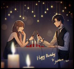 Mystic Messenger Happy Birthday Jumin and MC Anime Love Couple, Cute Anime Couples, Jumin X Mc, Jumin Han Mystic Messenger, Messenger Games, Fangirl, 8bit Art, Black Magic, Anime Guys