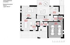 Projekt domu z poddaszem HomeKoncept 13 - Beautiful House Plans, Beautiful Homes, Good House, My House, House Entrance, Design Case, Sweet Home, Villa, Floor Plans