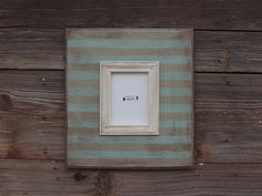 5x7 Handmade Chunky Grey and Turquoise by BigEyedFishDesigns, $50.00