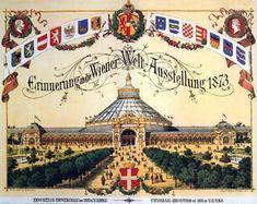 Poster of the Vienna World's Fair, Carpeaux, Dwarf Trees, Stone Lantern, Heart Of Europe, Fair Games, Architectural Antiques, Beautiful Dream, World's Fair, The Visitors