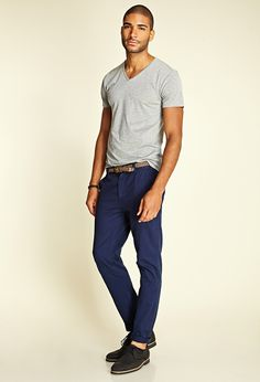 Heathered V-Neck Tee #21Men   Haha my color on a hot guy, I'll take it