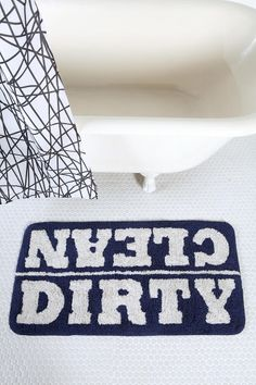 Clean/Dirty Bath Mat   #UrbanOutfitters