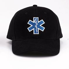 E.M.S. Insignia Cap - Black - Star Of Life Embroidery Low Profile Hat
