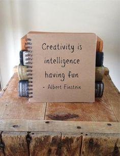 Creativity is  intelligence  having fun   Albert von EGJournals