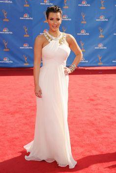 Kim Kardashian in Marchesa's Resort 2011 collection 62nd Annual Primetime Emmy awards