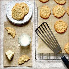 white chocolate, coconut + oatmealcookies