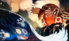 Primal Groudon and Primal Kyogre