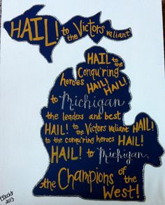 University of Michigan Fight Song by EndlessheARTBoutique on Etsy