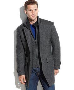 Michael Michael Kors Englewood Wool-Blend Herringbone Walking Coat