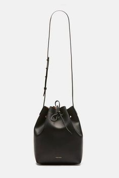 Mansur Gavriel — Bucket Bag Coated Interior   Black/Ballerina — THE LINE