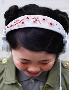 Try This Craft Project: DIY Embroidered Headphones Sweet Paul Magazine | Apartment Therapy