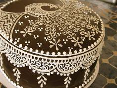 henna peacock cake by HennaLounge, via Flickr