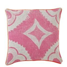 Dahlia Tile Cushion in Fluoro Pink from Bonnie and Neil (Thanks for the intro today, @Design*Sponge!)