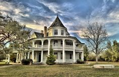 """porch concept    nightnightsweetprince:  """"This is a photo I took of the lovely Victorian house that was built on my family's ranch in Texas. We simply call it the """"Old House"""" and it's one of my favorite places in the world.  """""""