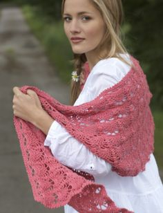 Yarnspirations.com - Bernat Pineapple Lace Shawl  - Patterns  | Yarnspirations