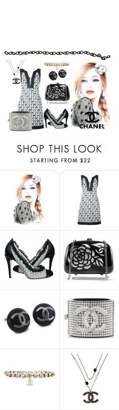 """CHANEL"" by flowerbud77 ❤ liked on Polyvore featuring Chanel, vintage, chic and grey"