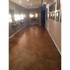 Rustic Interior/Exterior Concrete Acid Stain-EDADR - The Home Depot Acid Concrete, Stained Concrete Flooring, Concrete Acid Stain Colors, Concrete Floors In House, Finished Concrete Floors, Rustic Cafe, Rustic Restaurant, Rustic Bench, Rustic Cottage