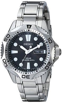 Seiko Dive Watch is water - resistant up to 200 meters below surface! This heavy-duty Seiko Dive Watch is not only waterproof, it stands Best Watches For Men, Luxury Watches For Men, Cool Watches, Wrist Watches, Stainless Steel Watch, Stainless Steel Bracelet, Daniel Wellington, Best Sports Watch, Tommy Hilfiger