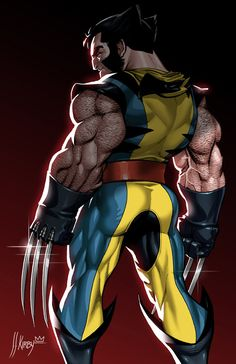 Marvel Comics: Wolverine by J. Short and stout, claws out. Weapon X * X-Men * Alpha Flight (anyone else notice the claws are longer than the forearm space between the wrist and elbow where they are supposedly housed when not extended)? Wolverine Comics, Logan Wolverine, Wolverine Cartoon, Marvel Comic Character, Comic Book Characters, Comic Book Heroes, Marvel Characters, Arte Dc Comics, Marvel Comics Art