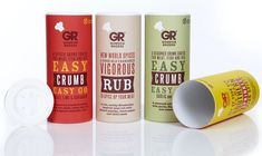Gordon Rhodes Herbs and Spices Packaging - Gordon Rhodes Herbs & Spices Packaging Tubes