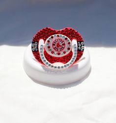 Boston Red Sox Bling Baby Pacifier w/Swarovski by BlingedOutThings, $30.00