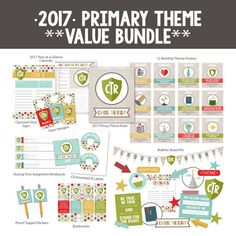 **2017 PRIMARY THEME VALUE BUNDLE** Best value for all your primary printables…