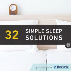 32 Simples Solutions for When You Can't Sleep #rest #sleep #relax