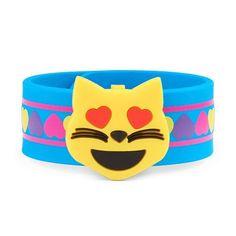 Girls Heart-Eyed Cat Emoji Heart Printed Slap Bracelet - Multi - The Children's Place