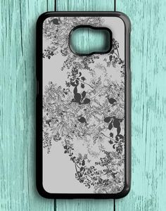 Flower Art Grey Samsung Galaxy S7 Case