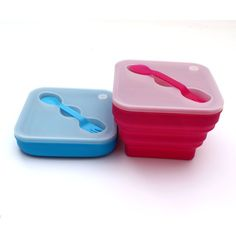 1Pcs 2016 New Arrival Rainbow Series Silicone Bowls with cover & spoon