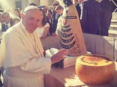 #parmigianoreggiano #sanpierdamiani #3333 #pope #Francesco #cheese #greatday