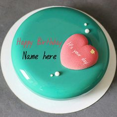 Write name on heart cake for love,Mirror glazed birthday cake with name on it,Happy birthday wishes cake with name on it,Cake for birthday celebrations Birthday Cake For Father, Birthday Wishes With Name, Happy Birthday Wishes Cake, Fruit Birthday Cake, Special Birthday Cakes, Birthday Wishes Messages, Birthday Name, Greeting Card Maker, Personalised Cakes