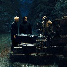 """Draco: """"Nice face, Potter"""" with Snape giving Harry quite a stare. Draco Harry Potter, Draco And Hermione, Harry Potter Universal, Harry Potter Characters, Harry Potter Memes, Draco Malfoy Aesthetic, Harry Potter Aesthetic, Harry Potters Dad, Drago Malfoy"""