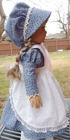 18 Doll Clothes Pioneer / Prairie Style Outfit by Designed4Dolls Gorgeous! This reminds me very much of Mary Ingalls.