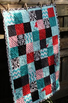 Basic Block Quilt tutorial. Lots of good info for a beginner like me. And I think Vanessa gives especially good and detailed instructions with lots of tips.