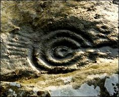 Northumberland - cup and rings mark, ancient civilisation when times were cool.