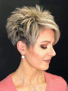 Short Hair Older Women, Pixie Haircut For Thick Hair, Short Choppy Hair, Funky Short Hair, Short Hair With Layers, Choppy Pixie Cut, Edgy Pixie Cuts, Short Spiky Hairstyles, Short Haircut Styles
