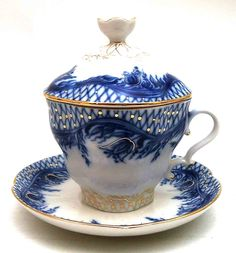 russian tea cups | Russian Teamaker Blue Rhapsody from Lomonosov Porcelain at The Russian ...