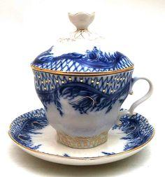 russian tea cups | Russian Teamaker Blue Rhapsody from Lomonosov Porcelain at The Russian ...