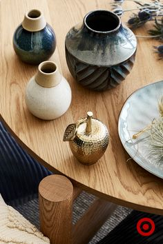 Our latest home decor combines gold-look touches with reactive glaze finishes for an eclectic yet homely feel.