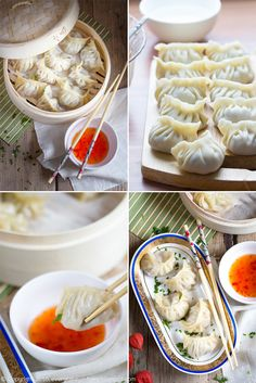 chińskie-pierożki-dim-sum Dim Sum, Ravioli, Dumplings, Apple Pie, Asian Recipes, Great Recipes, Food To Make, Food And Drink, Appetizers
