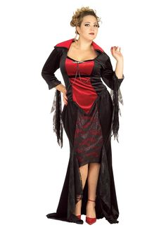 Scarlet Vampira Costume Plus Size - Party Britain Fancy Dress