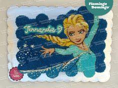 Frozen Cupcake Cake by Flamingo Domingo / Elsa, pastel formado con cupcakes