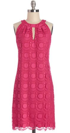 Fuchsia Shift Dress