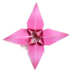 How to make a traditional origami lily (http://www.origami-make.org/origami-lily.php)