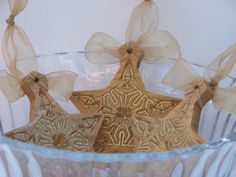 Wooden Ornaments Gold Star by PalmerUnionDesign on Etsy, $28.00