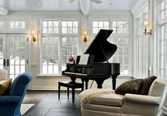 piano, room, and house resmi