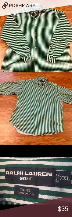 Polo Golf Long Sleeve 💯 % Cotton Mens Shirt Big and Tall Polo by Ralph Lauren Men's Cotton Casual Dress Shirt Excellent Condition  Priced to sell Exclusive one time Polo Golf Attire Polo by Ralph Lauren Shirts Casual Button Down Shirts