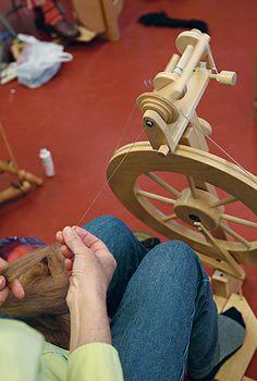 Try Spinning at the John C. Campbell Folk School   folkschool.org