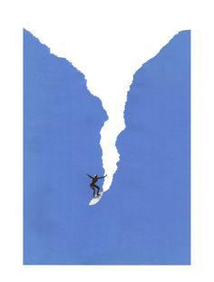 Anthony Zinonos : bigSWELL - World illustration Awards Collage Illustration, Graphic Design Illustration, Collage Art, Collages, Graphic Design Posters, Graphic Art, Posca Art, Surf Art, Painting & Drawing